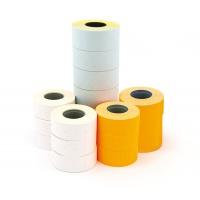 Etykiety do metkownicy dwurzędowej, zaokrąglone, usuwalne 26x16mm, APLI białe 1000 szt., 6 rolek, Metkownice, Urządzenia i maszyny biurowe