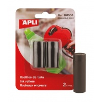 Ink Cartridge Refill for Single Row Labelling Machine APLI, 2pcs, black