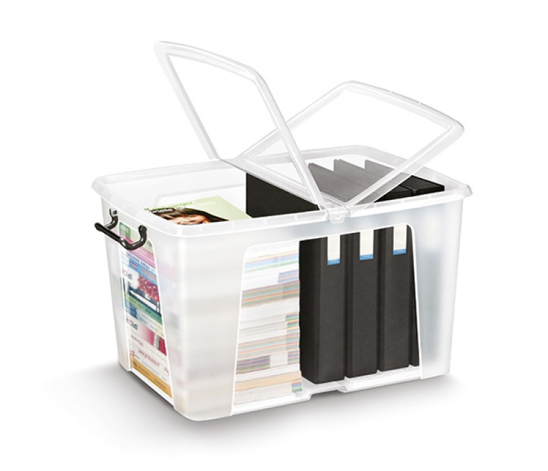 Pojemnik biurowy CEP Smartbox, 65l, transparentny, Pudła, Wyposażenie biura