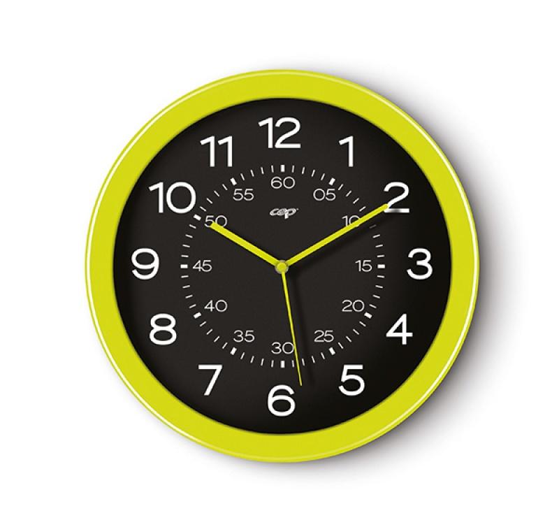 Zegar ścienny CEP Pro Gloss, 30cm, zielony, Zegary, Wyposażenie biura