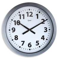 Wall Clock CEP Giant, 60cm, silver