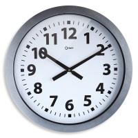 Zegar ścienny CEP Giant, 60cm, srebrny, Zegary, Wyposażenie biura