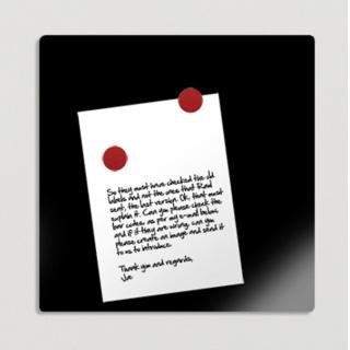 Tablica suchoś. -magn. BI-OFFICE 48x48cm, szklana, czarna, Tablice suchościeralne, Prezentacja
