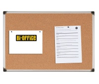 Cork Notice Board BI-OFFICE, 60x45cm, aluminium frame