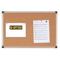 Cork Notice Board BI-OFFICE, 90x60cm, aluminium frame