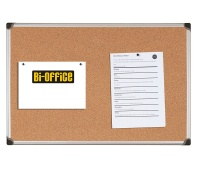 Cork Notice Board BI-OFFICE, 120x90cm, aluminium frame