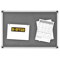 Tablica filcowa BI-OFFICE, 60x90cm, szara, Tablice filcowe, Prezentacja