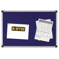 Tablica filcowa BI-OFFICE, 90x120cm, niebieska, Tablice filcowe, Prezentacja