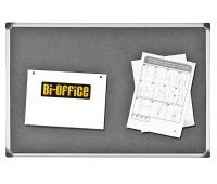 Tablica filcowa BI-OFFICE, 90x120cm, szara, Tablice filcowe, Prezentacja