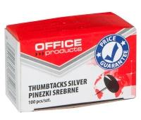 Thumbtacks (Drawing Pins) OFFICE PRODUCTS, classic, 100pcs, silver
