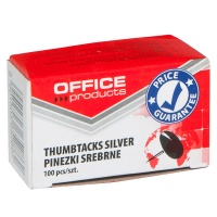 Thumbtacks (Drawing Pins) OFFICE PRODUCTS, classic, 100pcs, silver