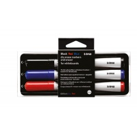 Whiteboard Writing Set non-magnetic sponge and 3 markers