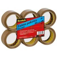 Taśma pakowa SCOTCH® Hot-melt (371), 50mm, 66m, brązowa, Taśmy pakowe, Koperty i akcesoria do wysyłek