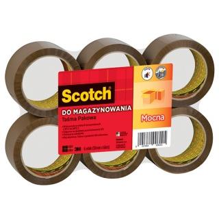 Taśma pakowa do magazynowania SCOTCH® (S5066F6), mocna, 50mm, 66m, brązowa, Taśmy pakowe, Koperty i akcesoria do wysyłek