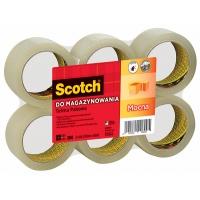 Taśma pakowa SCOTCH® (S5066F6) akrylowa 50mm 66m transparentna, Taśmy pakowe, Koperty i akcesoria do wysyłek