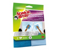 Microfiber Wipe SCOTCH BRITE™ for glass surfaces and mirrors, 2pcs, dark&light blue
