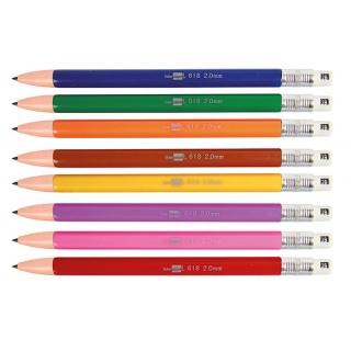 Ołówek automatyczny LIDERPAPEL 2mm, kolorowy grafit, mix kolorów, Ołówki, Artykuły do pisania i korygowania