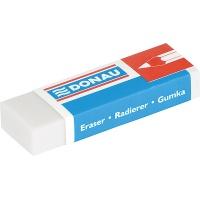 Gumka uniwersalna DONAU, 41x21x11mm, blister - 3szt., biała, Gumki, Artykuły do pisania i korygowania