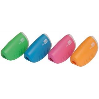 Temperówka LIDERPAPEL, plastikowa, pojedyncza, mix kolorów, Temperówki, Artykuły do pisania i korygowania