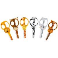 Zestaw nożyczek WESTCOTT, 13cm, z motywem zwierząt, blister, mix kolorów, Nożyczki, Drobne akcesoria biurowe