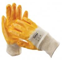 Rękawice Harrier Yellow, montażowe, bawełna+nitryl, rozm. 10, biało-żółte, Rękawice, Ochrona indywidualna
