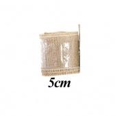 Juta naturalna, 5cm/4,5m, Produkty kreatywne, Artykuły dekoracyjne