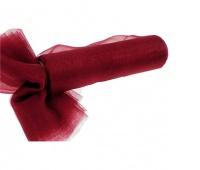 Organza nieobszywana miękka 16cm/9mb, bordowa, Produkty kreatywne, Artykuły dekoracyjne