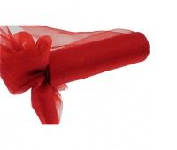 Organza nieobszywana miękka 16cm/9mb, czerwona, Produkty kreatywne, Artykuły dekoracyjne