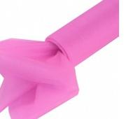 Organza nieobszywana miękka 16cm/9mb, różowa, Produkty kreatywne, Artykuły dekoracyjne