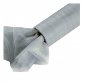 Organza nieobszywana miękka 16cm/9mb, srebrna, Produkty kreatywne, Artykuły dekoracyjne