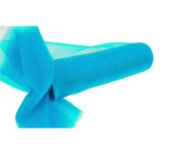Organza nieobszywana miękka 16cm/9mb, turkusowa, Produkty kreatywne, Artykuły dekoracyjne