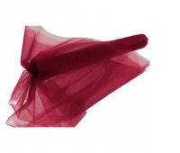 Organza nieobszywana miękka 40cm/9mb, bordowa, Produkty kreatywne, Artykuły dekoracyjne