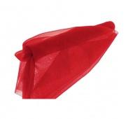 Organza nieobszywana miękka 40cm/9mb, czerwona, Produkty kreatywne, Artykuły dekoracyjne