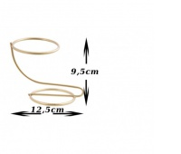 Stojak na jajko Faberge 85mm złoty, Produkty kreatywne, Artykuły dekoracyjne
