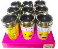 Kubek termiczny mix wzorów 450ml (displej 9 szt.), Pozostałe, Artykuły szkolne