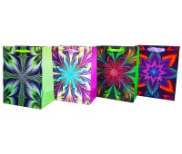 Torebka Lux z brok.ŚREDNIA graficzne kaleidoscope, Torby ozdobne, Papier i etykiety