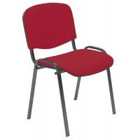 Krzesło konferencyjne OFFICE PRODUCTS Kos Premium, czerwone, Krzesła i fotele, Wyposażenie biura