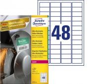 Etykiety polietylenowe ultra resistant Avery Zweckform, A4, 40 ark./op., 45,7 x 21,2mm, białe, Etykiety samoprzylepne, Papier i etykiety