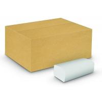Ręczniki składane ZZ eco-white VELVET Economy, 2-warstwowe, 3000 listków, 20szt., białe, Ręczniki papierowe i dozowniki, Artykuły higieniczne i dozowniki