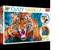 PUZZLE 600 Crazy Shapes - Oko w oko z tygrysem, Podkategoria, Kategoria