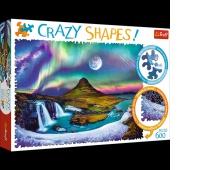 PUZZLE 600 Crazy Shapes - Zorza nad Islandią, Podkategoria, Kategoria