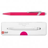 Długopis CARAN D'ACHE 849 Pop Line Fluo, M, w pudełku, fioletowy, Długopisy, Artykuły do pisania i korygowania