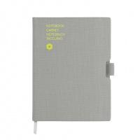 Notatnik CARAN D'ACHE Office, A5, 192 kart., szary, Notatniki, Zeszyty i bloki