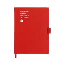 Notatnik CARAN D'ACHE Office, A5, 192 kart., czerwony, Notatniki, Zeszyty i bloki