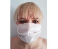Protective mask, non-woven, white