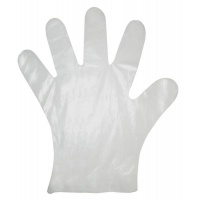 Protective gloves, HDPE film, 100 pcs. in bulk pack