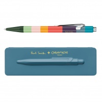 Długopis CARAN D'ACHE 849 Paul Smith #3 Petrol Blue, M, w pudełku, niebieski, Długopisy, Artykuły do pisania i korygowania