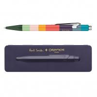 Długopis CARAN D'ACHE 849 Paul Smith #3 Damson, M, w pudełku, fioletowy, Długopisy, Artykuły do pisania i korygowania