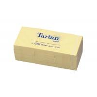 Bloczek samop. TARTAN™ (05138) 38x51mm 1x100 kart. żółty, Bloczki samoprzylepne, Papier i etykiety