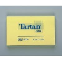 Bloczek samoprzylepny TARTAN™ (12776), 127x76mm, 1x100 kart., żółty